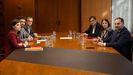 Equipos negocidaores de ERC y el PSOE, reunidos en Barcelona el 10 de diciembre
