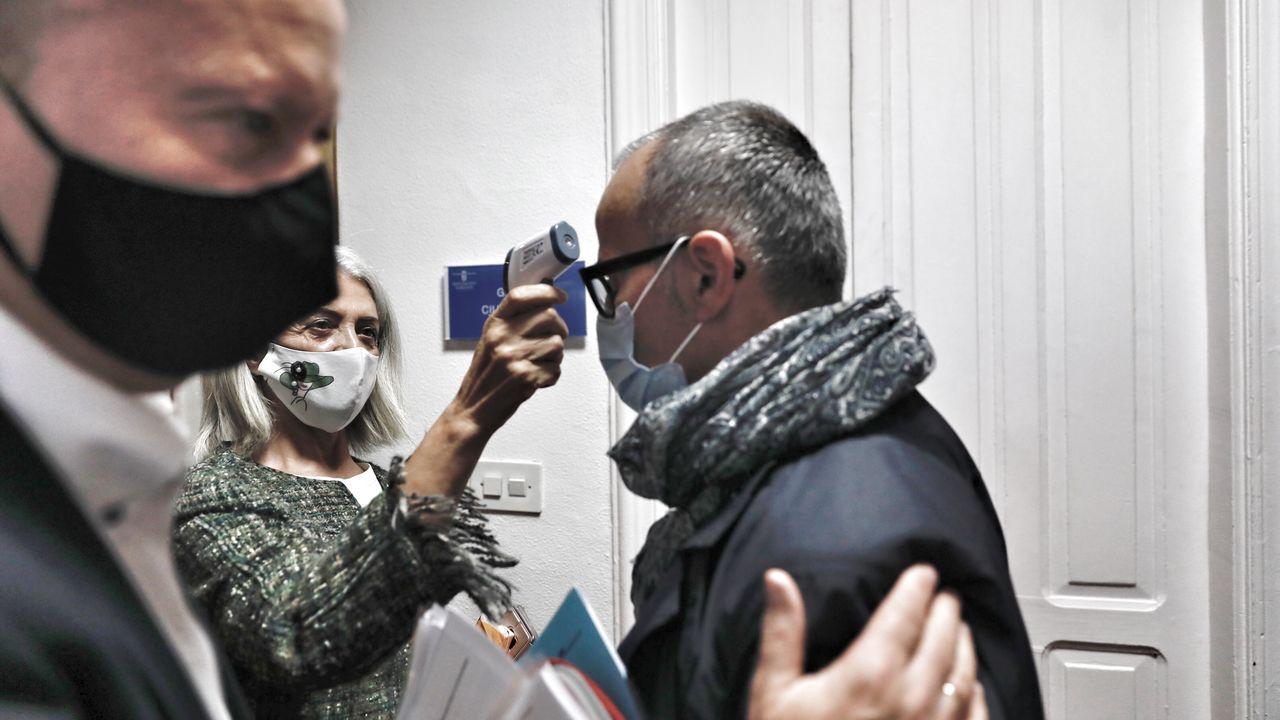Las medidas especiales por el coronavirus retrasaron unos minutos el inicio del pleno