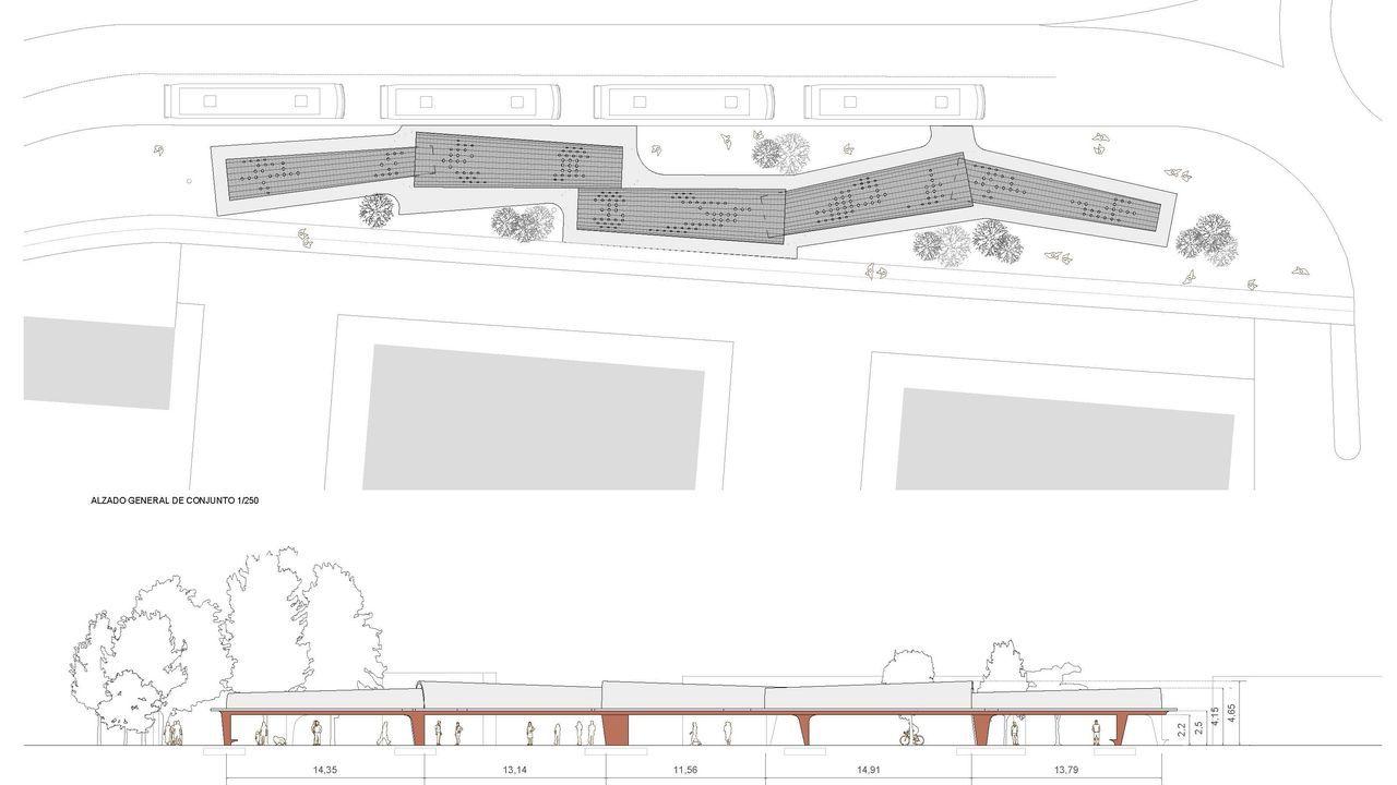 Plano de la futura estación de buses de Ribeira