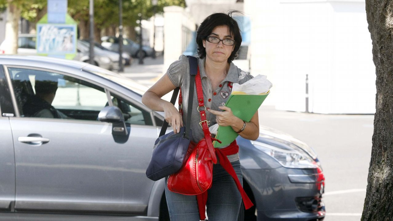 Pilar de Lara llegando a los juzgados de Lugo, en una foto de archivo