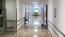 Pasillos del Hospital Universitario San Agustín (HUSA) de Avilés