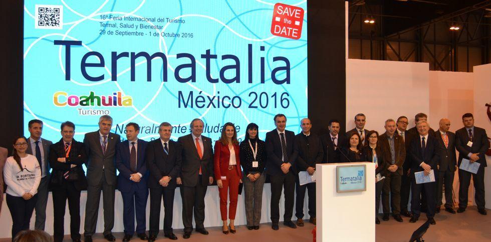 Ourense y México compartieron protagonismo en la presentación de Termatalia en Fitur.