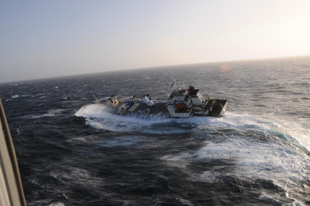 El North Spirit escoró y terminó por hundirse frente a Cabo Ortegal