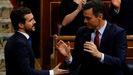 Pablo Casado y Pedro Sánchez en el Congreso de los Diputados, en una imagen de archivo.