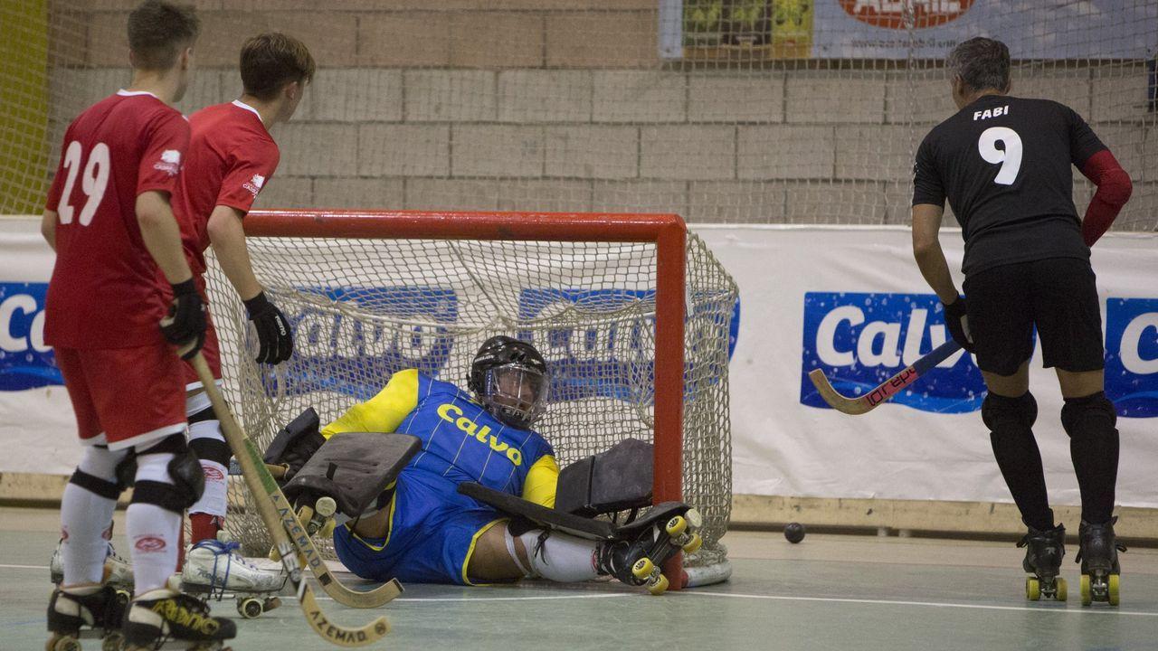 Esforzados del hockey.Imagen de archivo de un partido del Lubiáns