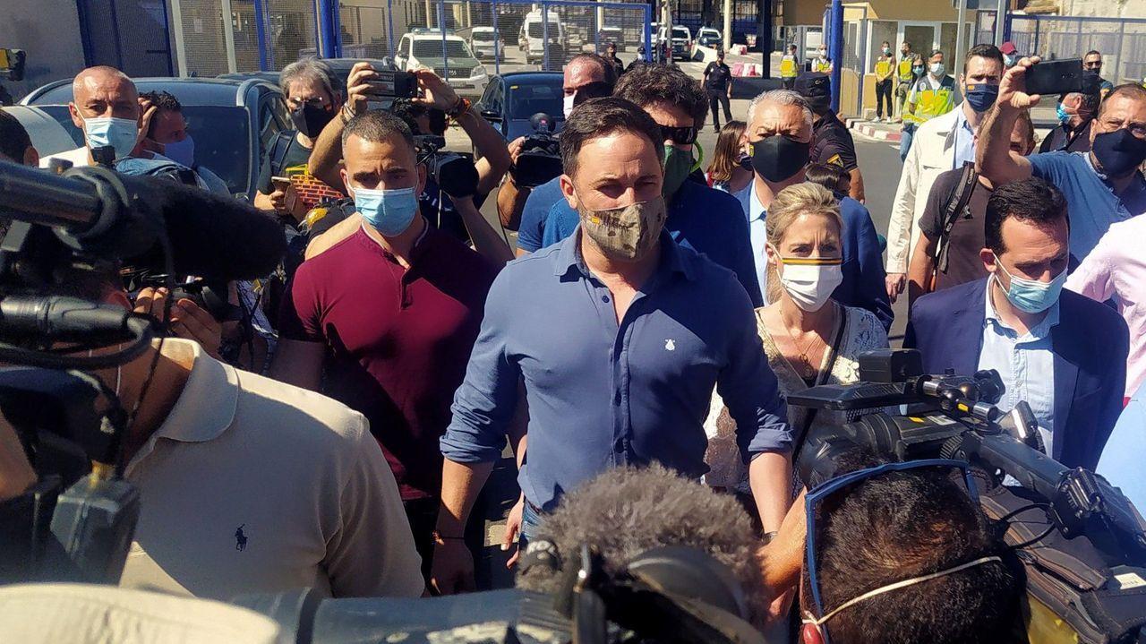 Santiago Abascal, el pasado día 19 en Ceuta