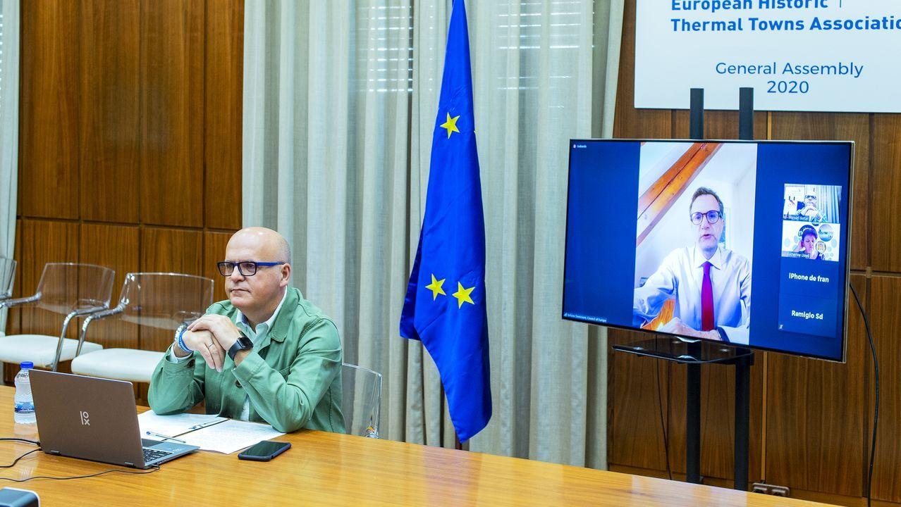 Videoconferencia de José Manuel Baltar con miembros de la EHTTA