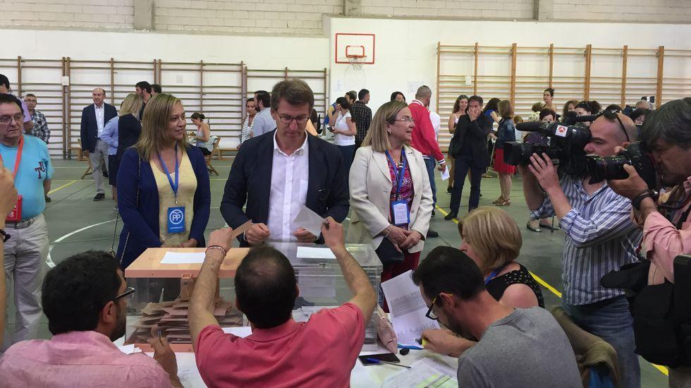 Feijoo votó en Vigo.