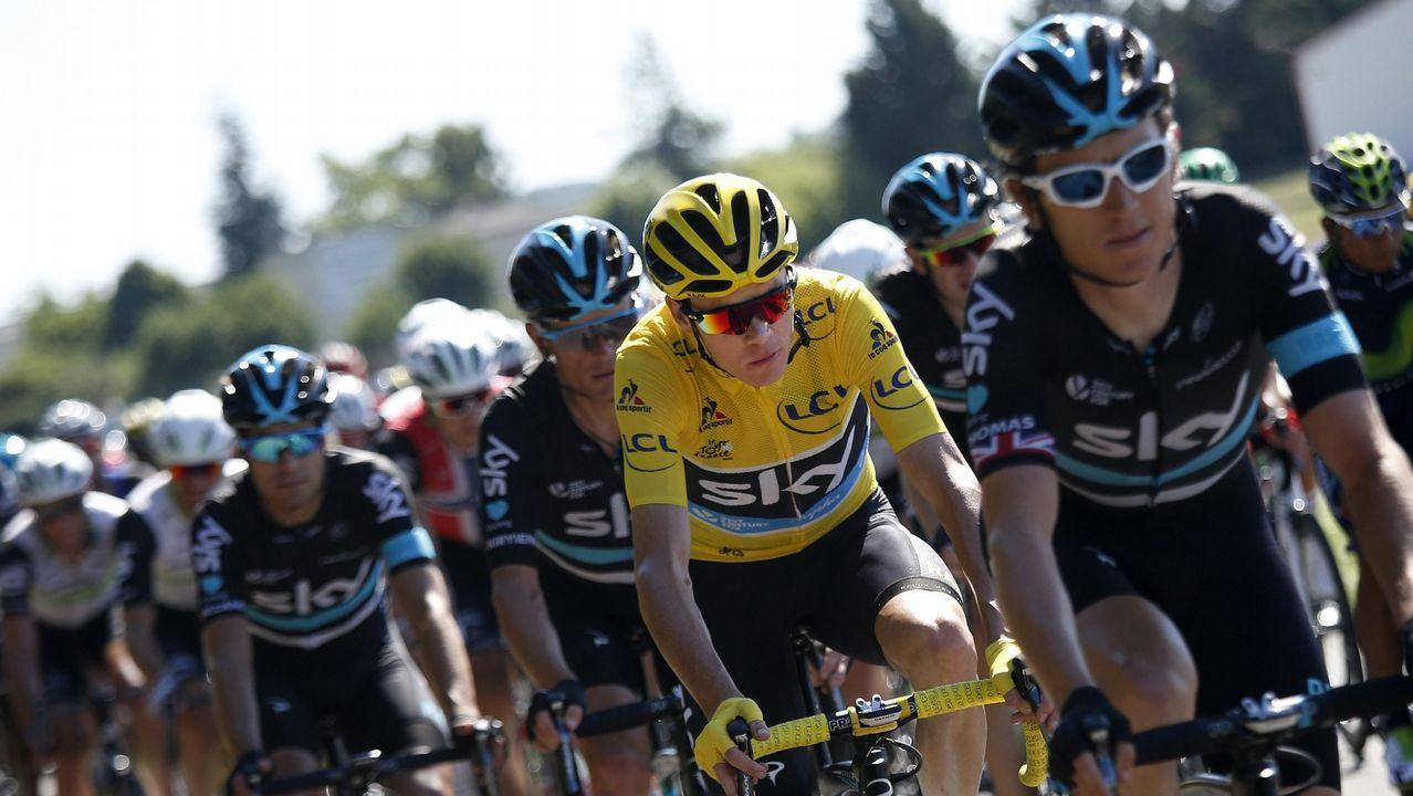 Las nueve rutas ciclistas por la montaña de Lugo.Martín Bouzas durante un entrenamiento
