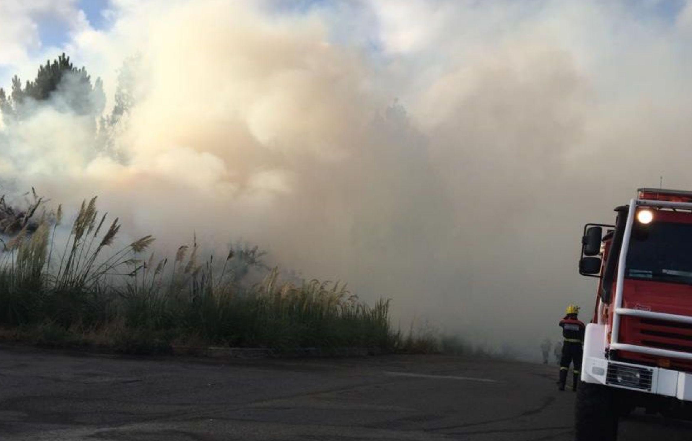 Incendio en el monte Alfeirán