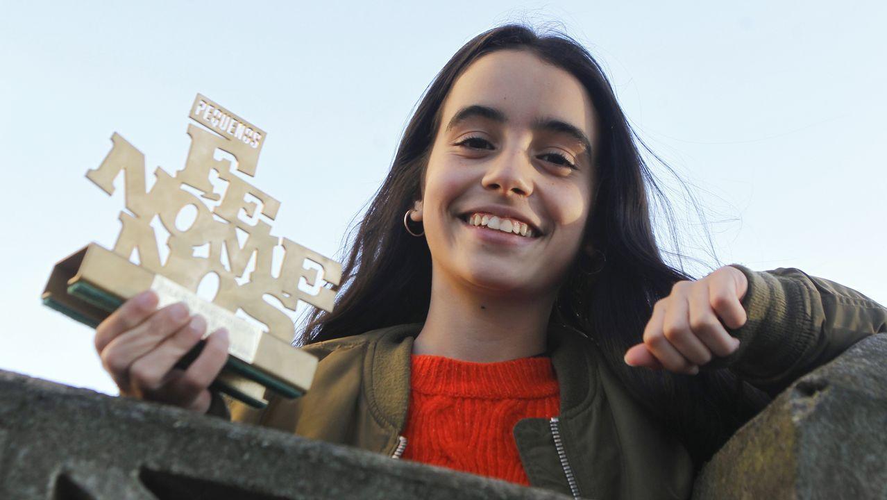 Sabela Ramil levanta pasiones durante la firma de su disco.PABLO LÓPEZ Y MIRIAM EN SU ACTUACIÓN EN «OT»