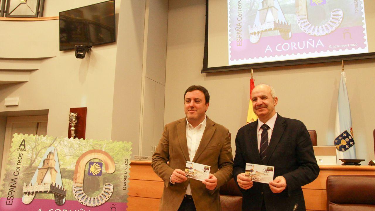 José Manuel Rodriguez y José Tomé, en la firma del convenio este jueves en la Diputación de Lugo