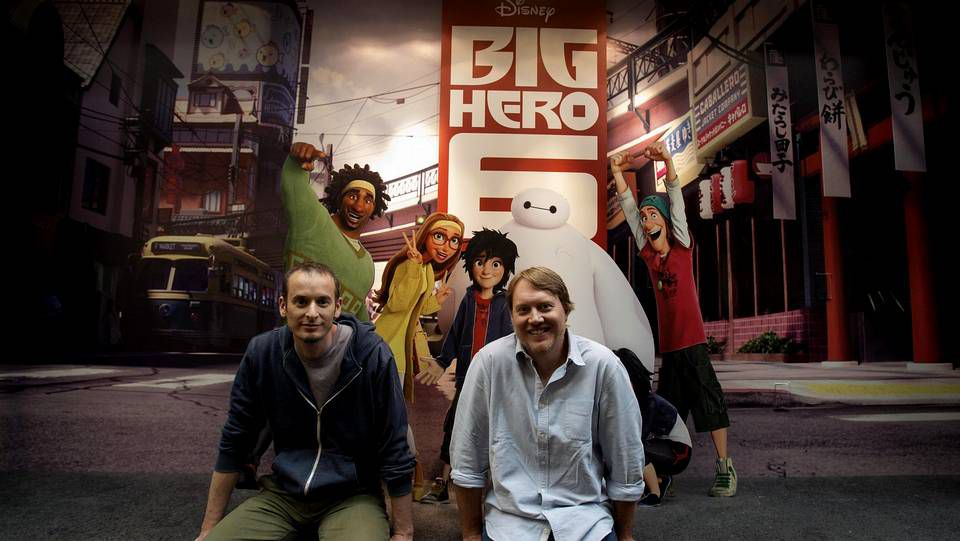 Zoolander, en la Semana de la Moda de París.Los directores de «Big Hero 6», uno de los estrenos dirigidos al público infantil.