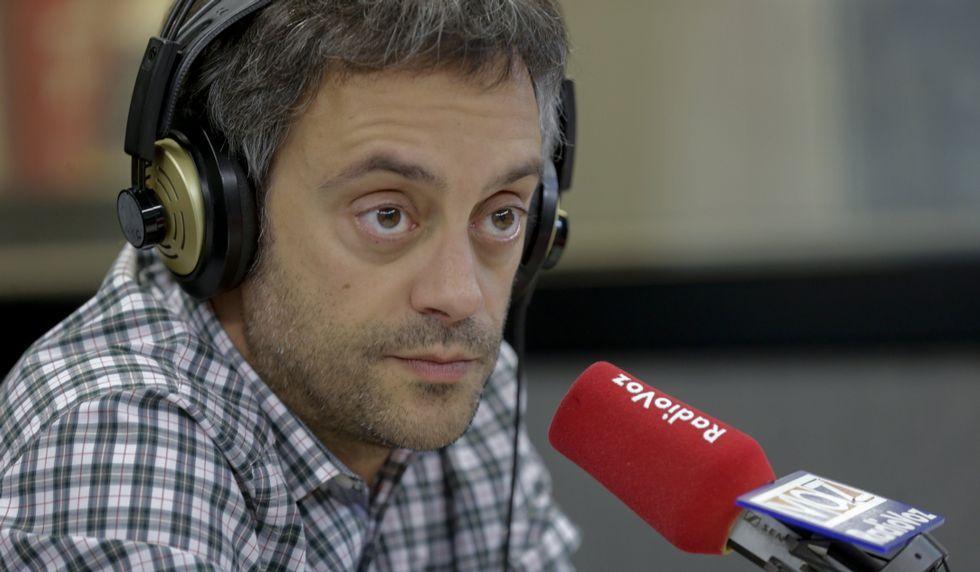 Xulio Ferreiro, ayer en los micrófonos de Radio Voz.