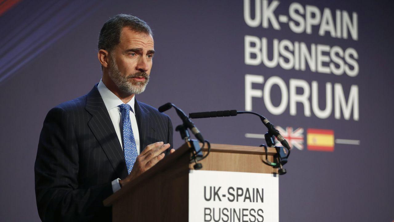 El Rey Felipe VI en el encuentro empresarial Reino Unido-España, Londres