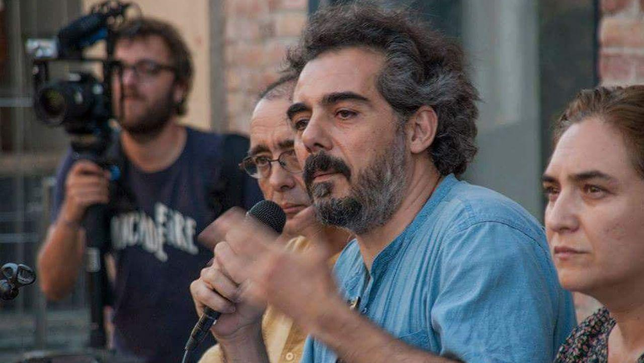 Comparece Gómez-Reino, el nuevo líder de Podemos Galicia.Bescansa y Gómez-Reino, en la asamblea ciudadana de Podemos