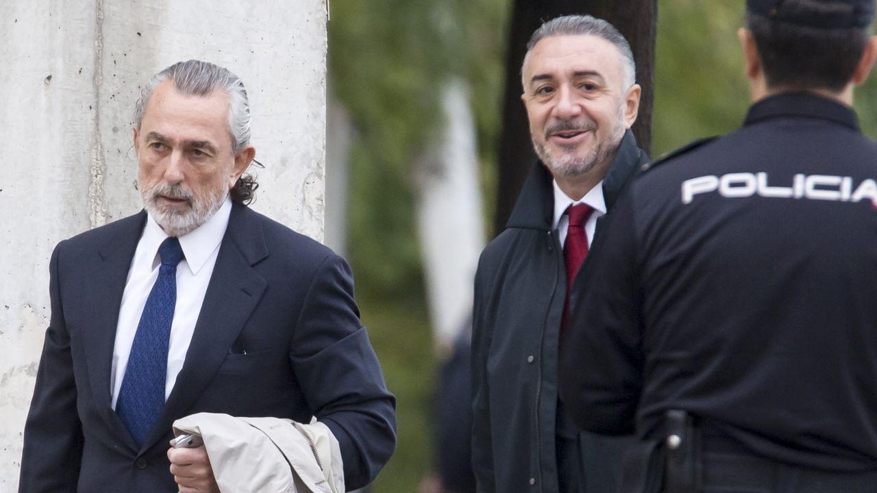 El empresario Francisco Correa en su llegada a la Audiencia Nacional, en una foto de archivo.