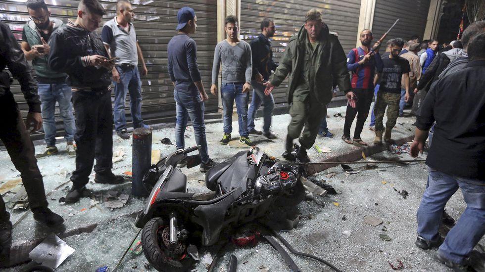 Doble atentado suicida en Beirut.El ministro de Interior libanés, Nouhad Machnouk, durante la rueda de prensa.