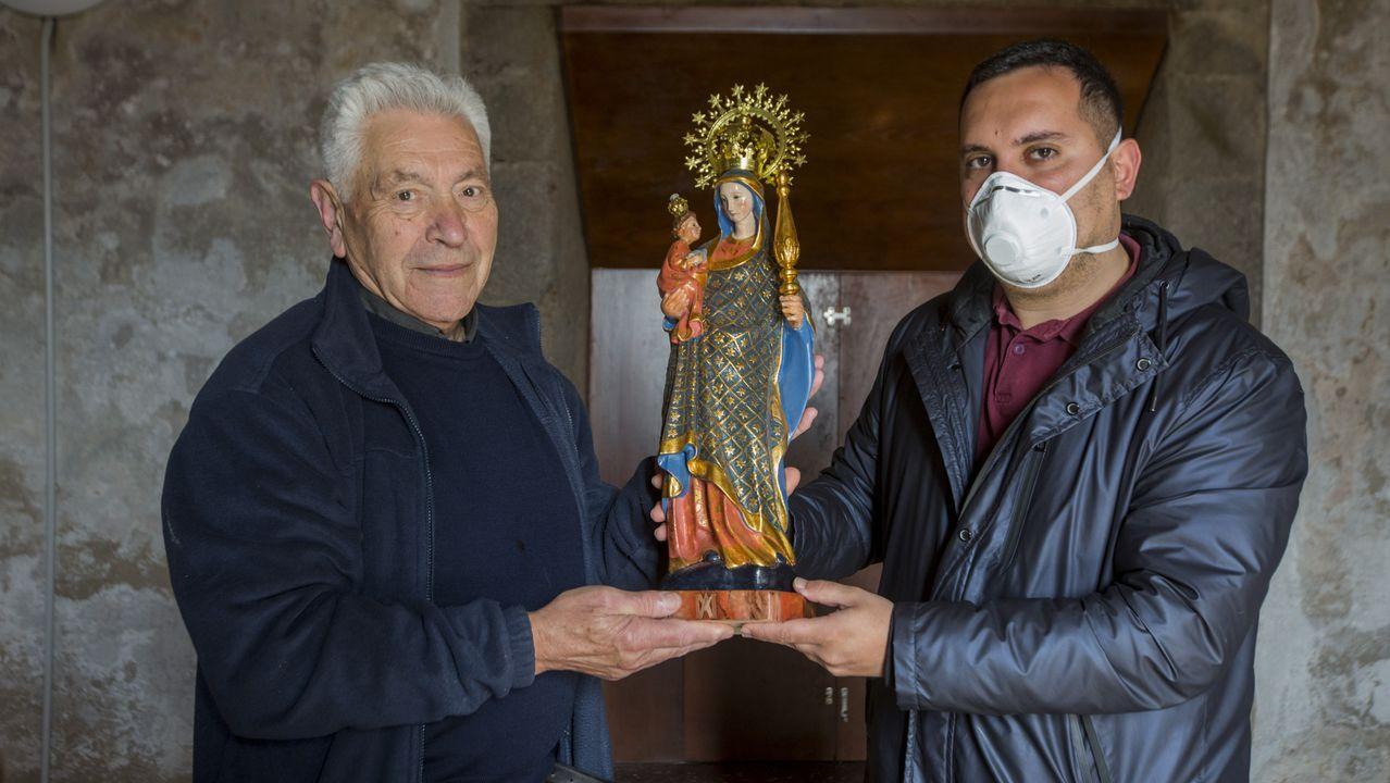 Pinturas en la iglesia de San Martiño de Rodis