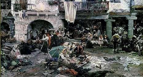 El cuadro de Francisco Pradilla que aparece reproducido en la foto es el que figura en un libro de actas del año 1911.