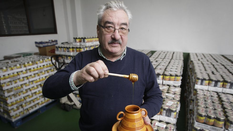 David Corral era el mayor productor de miel de Galicia