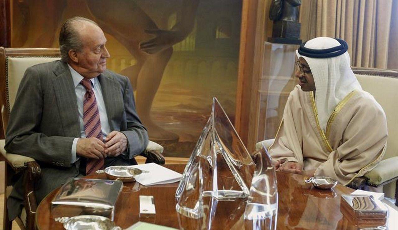 Juan Carlos I, en Emiratos Árabes en abril del 2012