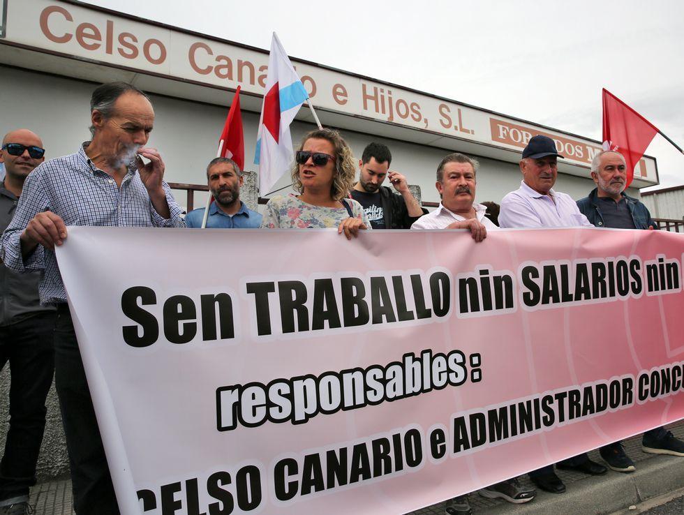 Concentración de los trabajadores del hotel de La Reconquista.Concentración de los trabajadores del hotel de La Reconquista