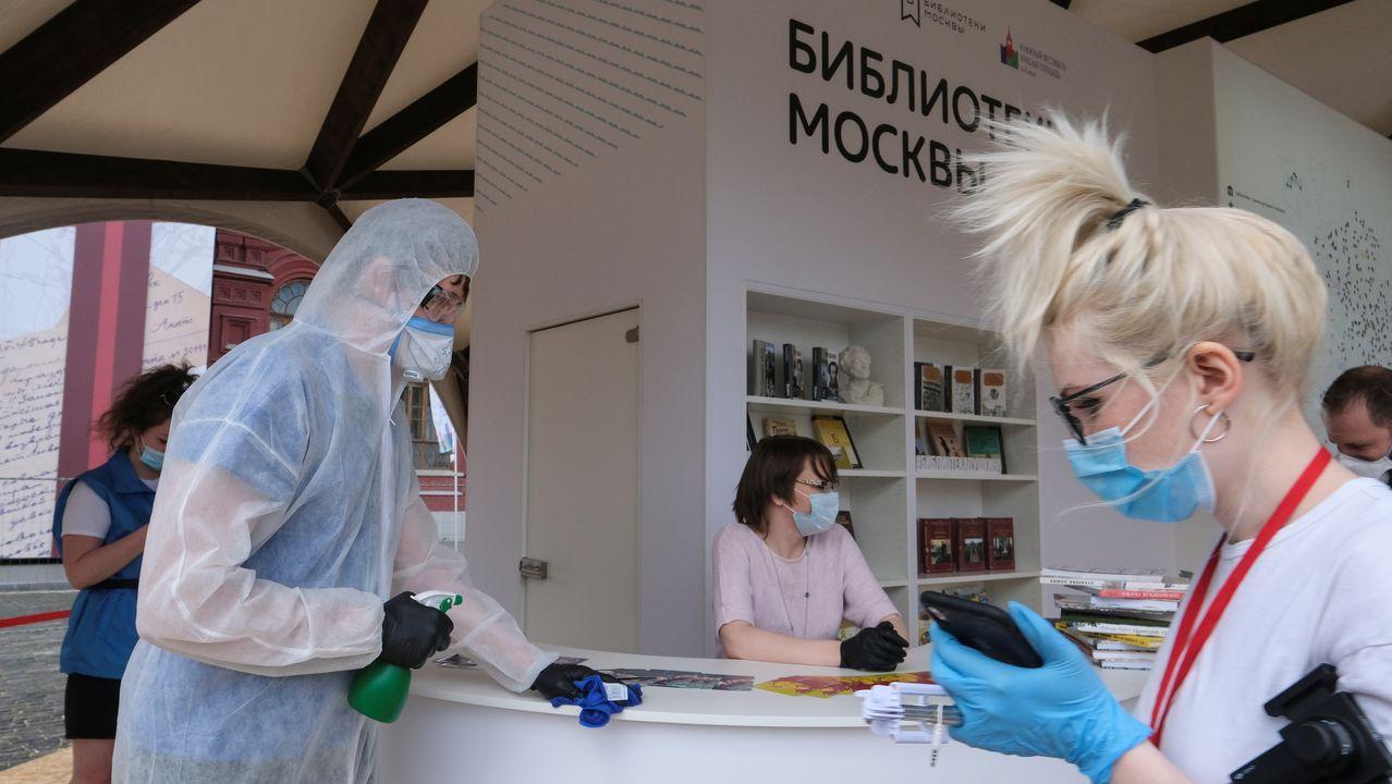 Moscú ha inaugurado este sábado su feria del libro, aunque se percibe a primera vista que no es una edición normal