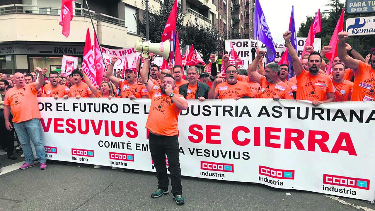 Una de las manifestaciones de Vesuvius