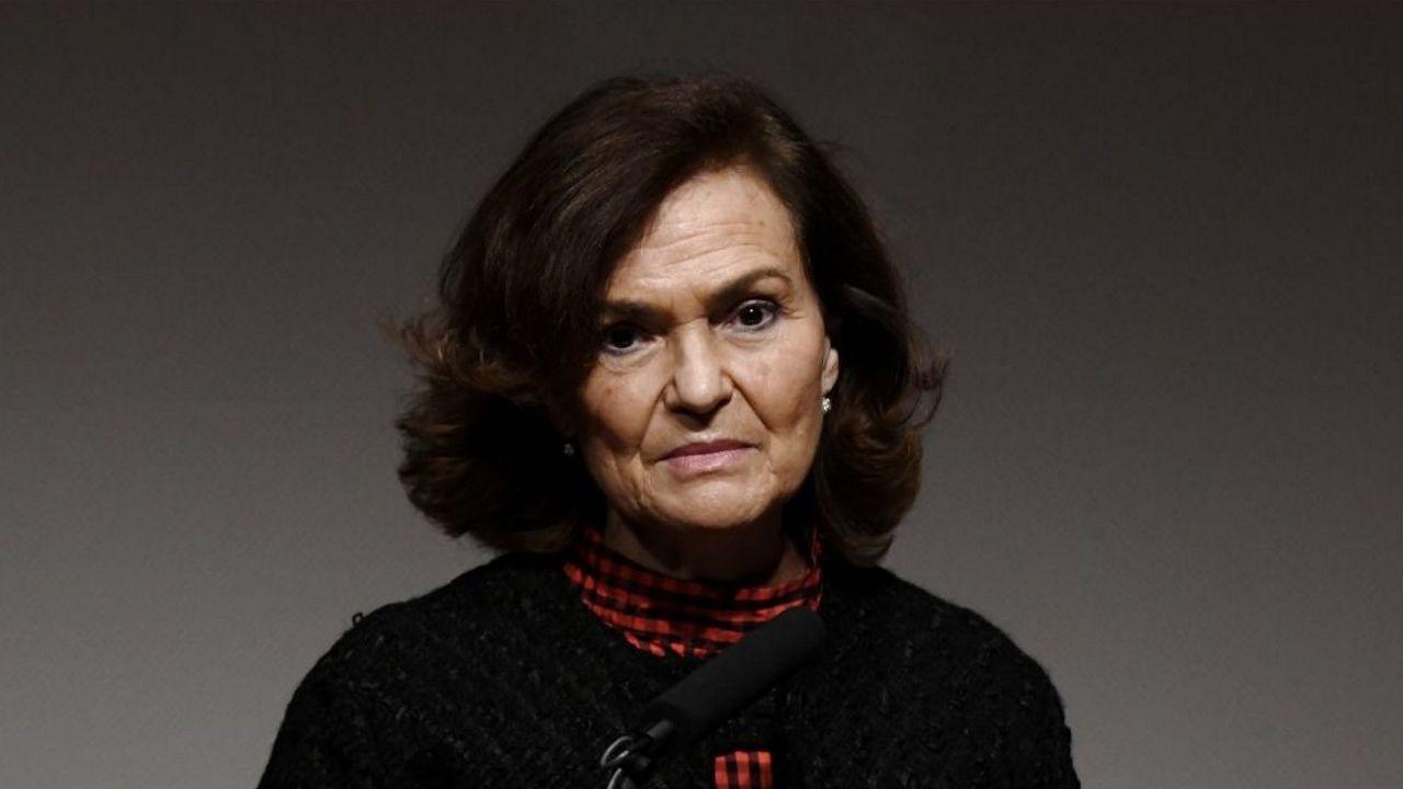 La vicepresidenta del Gobierno, Carmen Calvo, en una imagen del 17 de febrero