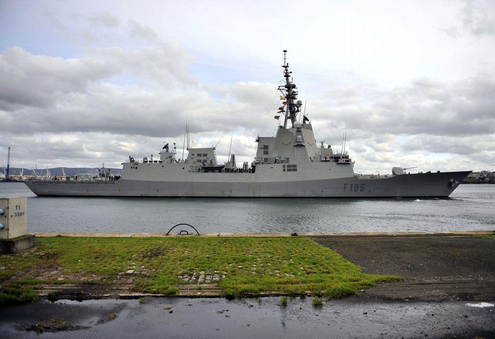 La «Cristóbal Colón» partirá en junio a Estados Unidos para realizar su prueba de misiles.