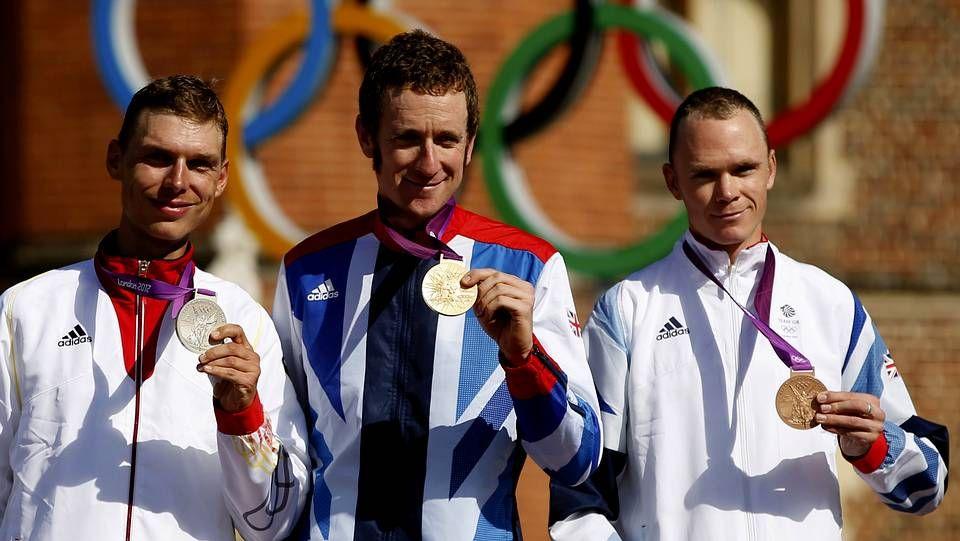 Londres 2012: La duodécima jornada de los Juegos Olímpicos, en fotos.Wiggins, en el podio con Tony Martin y Froome
