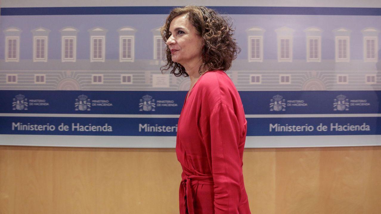La consejera de Hacienda, Ana Cárcaba