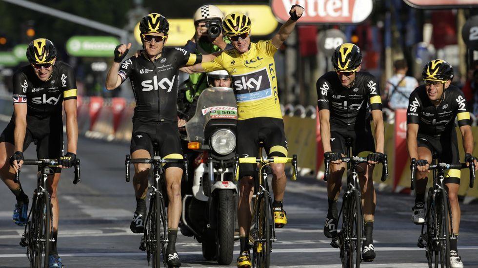 Las mejores imágenes de la última etapa del Tour de Francia.Froome, durante el pasado Natourcriterium en Bélgica