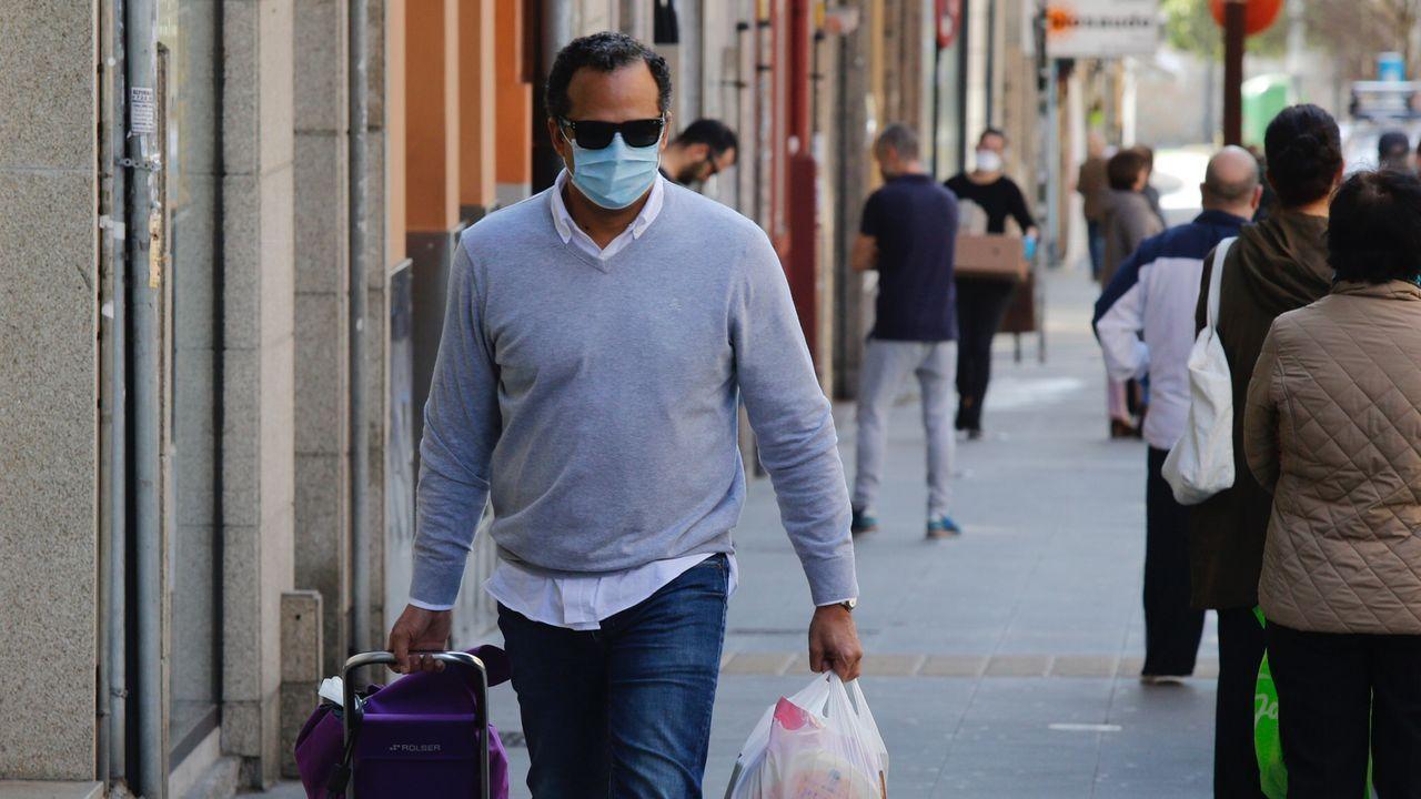 playas.Pandemia del coronavirus. Vuelta a las aulas en el instituto Rafael Dieste de A Coruña