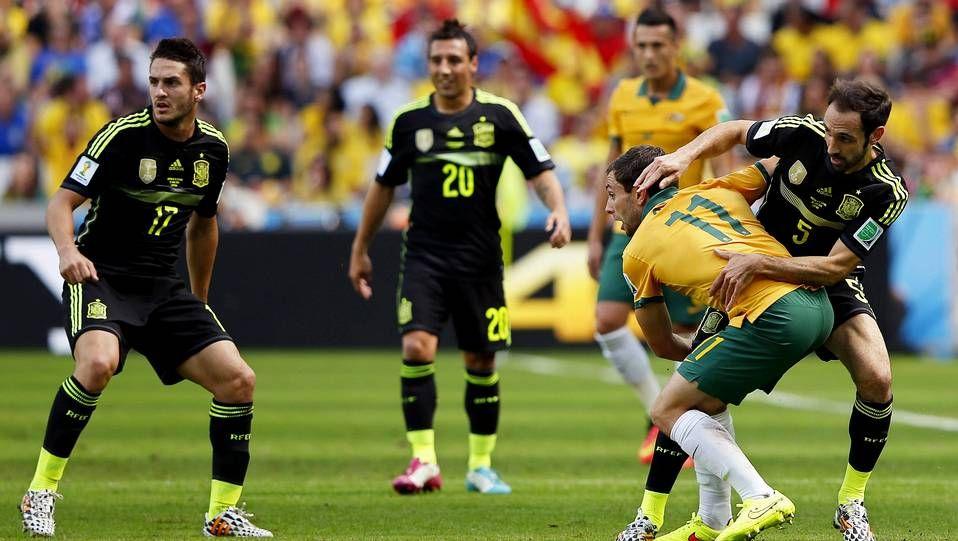 Juanfran y Koke, contra Australia