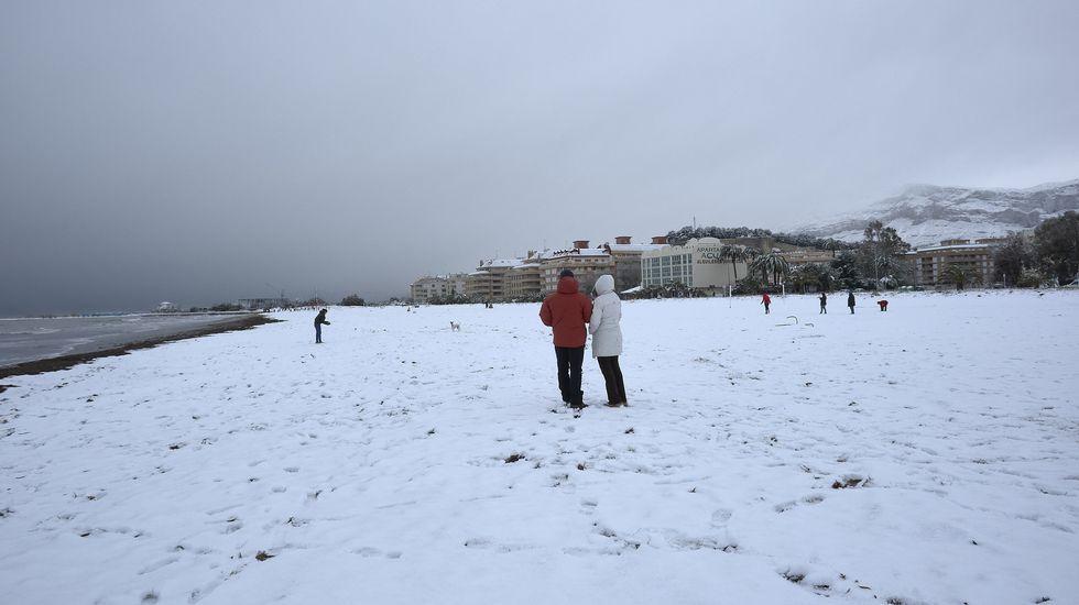Las nevadas en la costa mediterránea, en imágenes