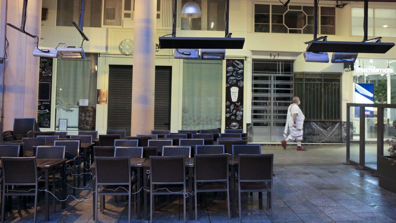 El centro de Lugo, vacío, hace unos dias