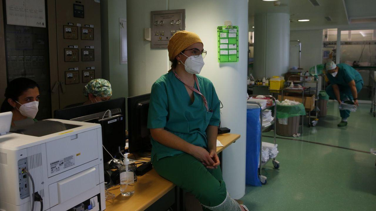 La unidad de reanimación de Montecelo, el pasado 13 de febrero, cuando atendía a pacientes covid críticos