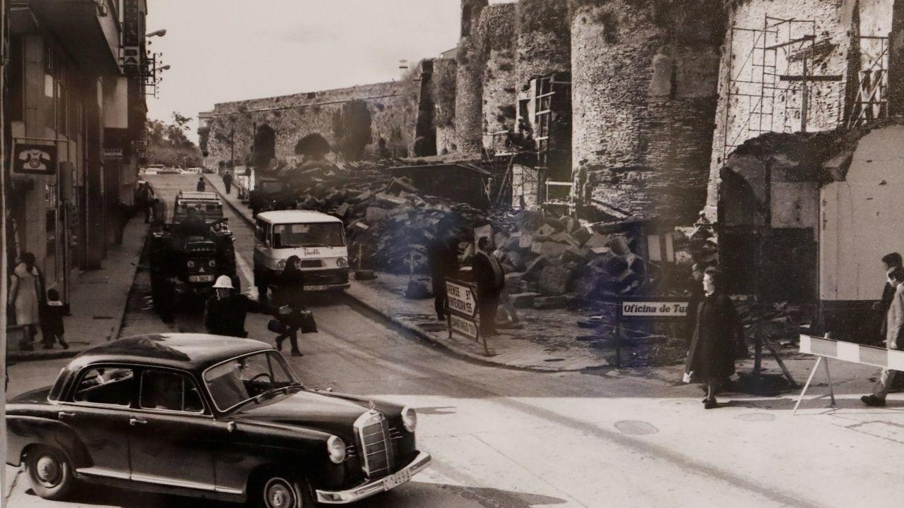 Fotografía da operación Muralla Limpa, en 1972