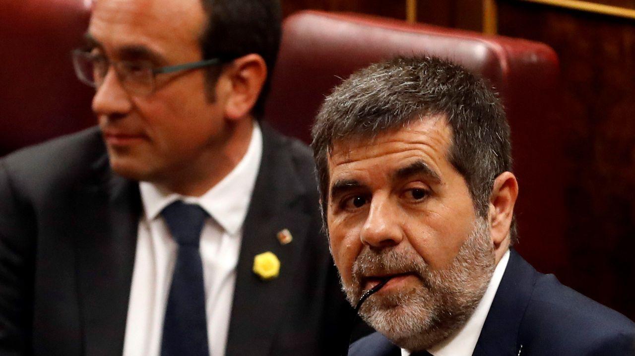 Los diputados electos en prisión preventiva de JxCAT Josep Rull y Jordi Sánchez
