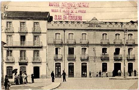 El Hotel Méndez Núñez estaba ubicado en la plaza de San José.