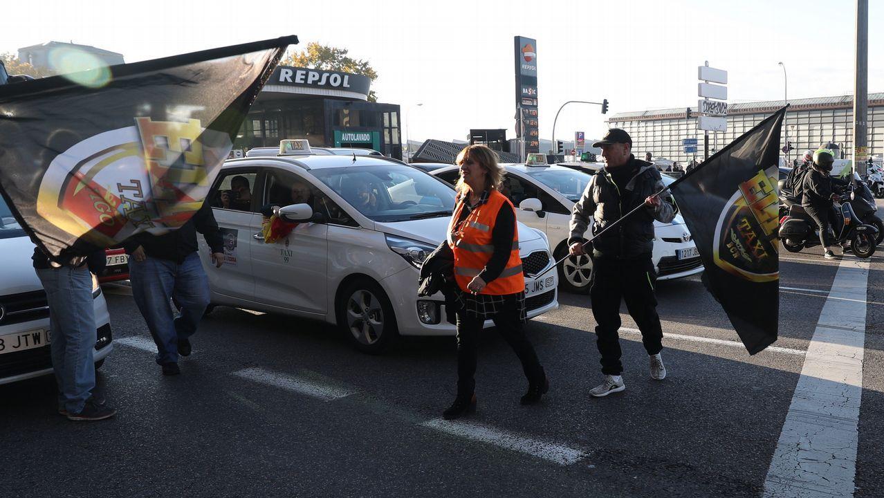 España entera amanece sin taxis en las calles por un paro de 24 horas convocado por las asociaciones del gremio.