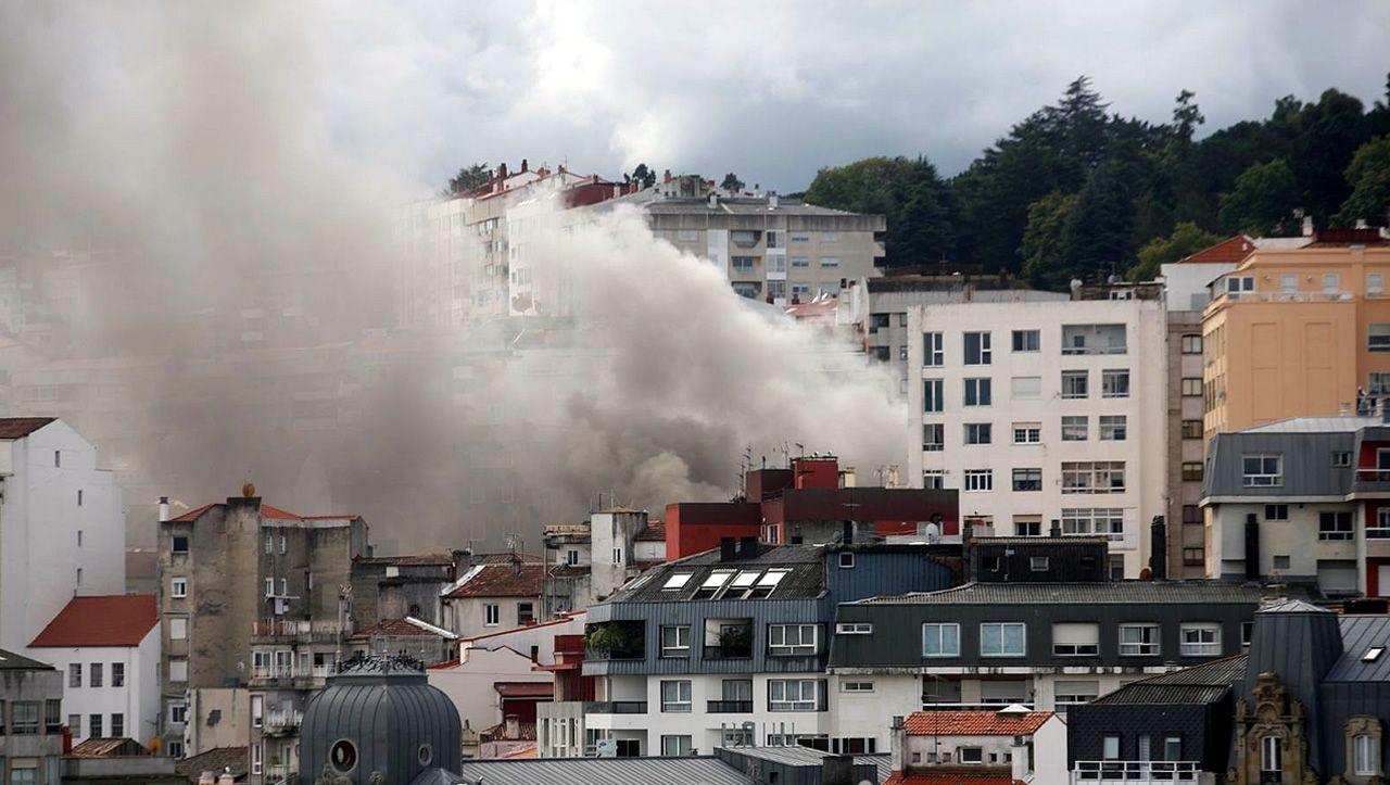 Incendio en Vigo