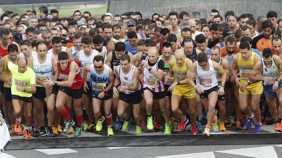Búscate en la media maratón de Pontevedra. La salida