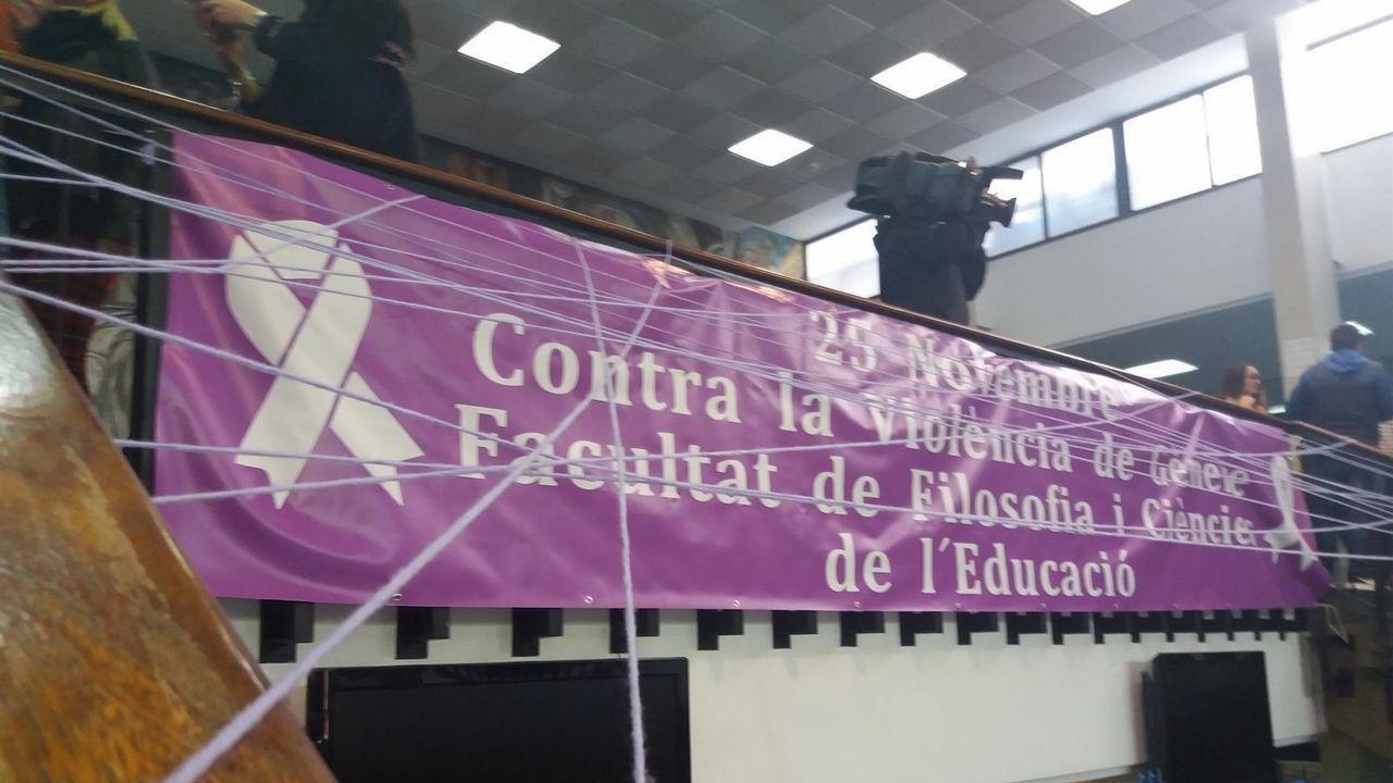 Protesta en la Facultad de Filosofía y Ciencia de la Educación