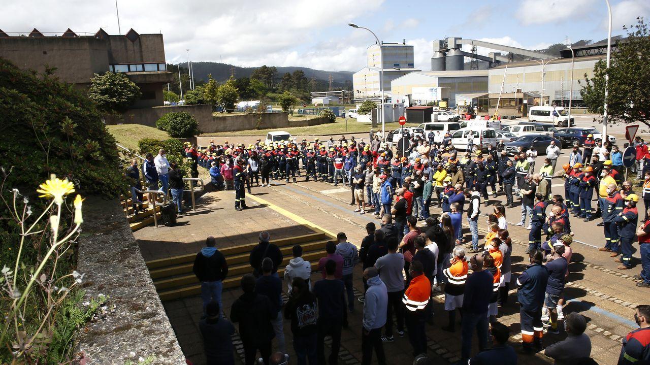 Imagen de una reciente asamblea de trabajadores de Alcoa San Cibrao