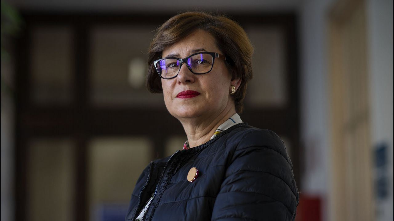 Elvira Lama, candidata del PSOE en Xinzo
