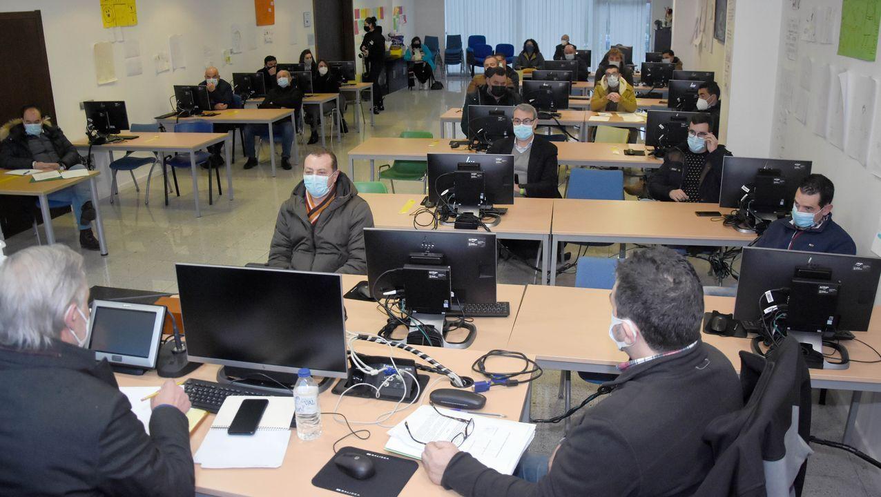 Rueda de prensa de Jácome.El coronel Corbí felicita a los guardias civiles que investigaron el caso Diana Quer, en un acto en A Coruña en enero del 2018