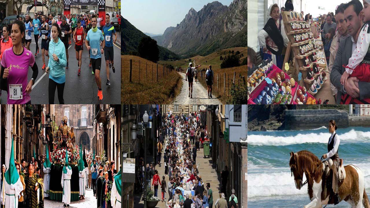 Semana Santa en Asturias.Un niño, con un juguete